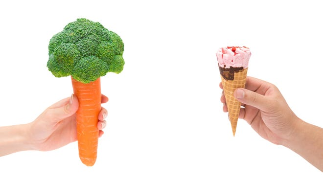 The Glycemic Index is a measurement of how high blood sugar rises after eating food that contains carbohydrate. It is controversial because some measurements don't seem to add up, like ice cream having a lower measurement than carrots.