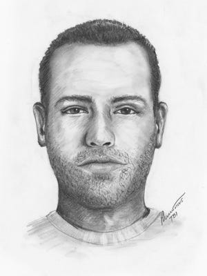 Sketch of Antioch apartment sexual assault suspect.