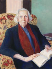"""Mildred Nungester Wolfe (1912-2009), """"Portrait of Eudora Alice Welty,"""" 1988. oil on canvas. 39 ½ x 33 ½ in. (framed). Collection of the National Portrait Gallery, Smithsonian Institution, Washington D.C. NPG.88.163."""