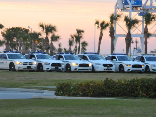 Brevard County Sheriff's Office patrol cars.