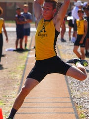 Alamogordo senior Alex Alton competed in the long jump event Friday.