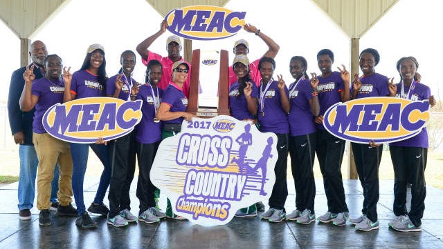 FAMU's women's cross country team celebrates its sixth-consecutive conference title.