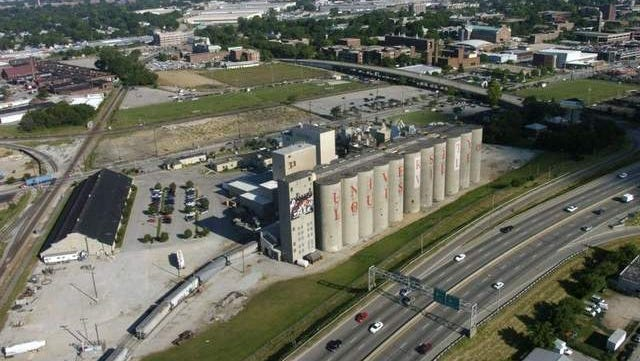 The silos along Interstate 65 were once considered a possible site for U of L's new basketball arena.