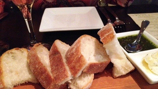 It's hard not to fill up on bread when it's this good.