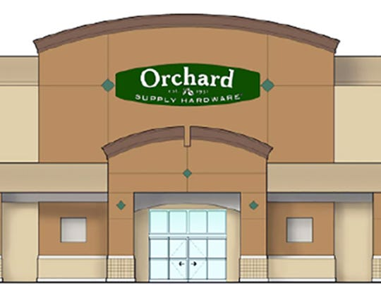 An architectural drawing of the Orchard Supply Hardware store planned in Granada Shoppes at U.S. 41 North and Immokalee Road in North Naples.