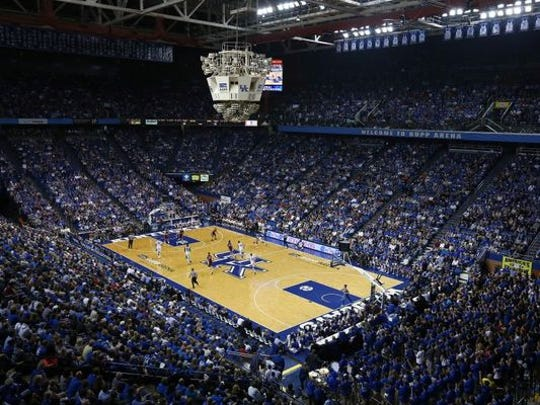 A general view of Rupp Arena home of the Kentucky Wildcats.
