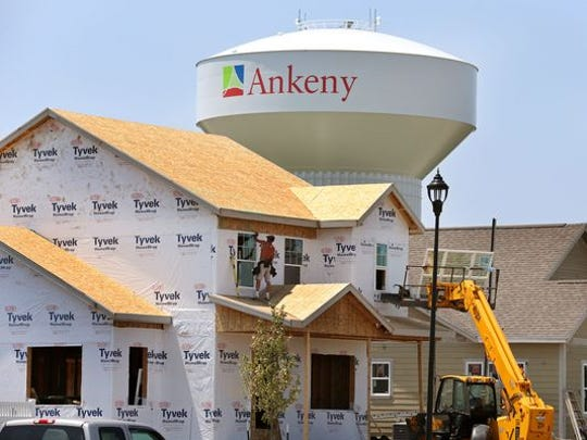 Ankeny again led the Des Moines with 365 single-family home permits and 172 town home permits issued in 2018, according to the Central Iowa Home Builders Association report.