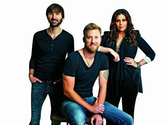 Lady Antebellum members, from left: Dave Haywood, Charles