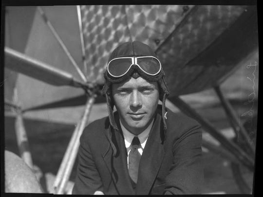 In this March 1, 1927, photo, Charles A. Lindbergh