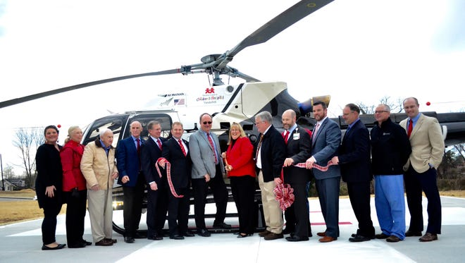 Sumner Regional Medical Center, Vanderbilt University Medical Center and LifePoint Health gathered to celebrate the opening of a new helipad located on the hospital's Gallatin campus Friday, Dec. 23.