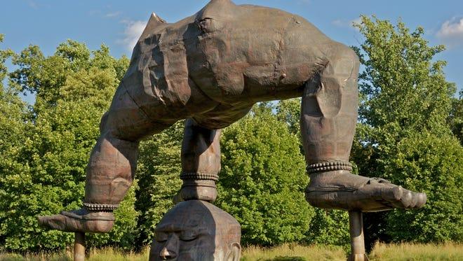 """Zhang Huan's """"Three Legged Buddha,"""" 2007."""