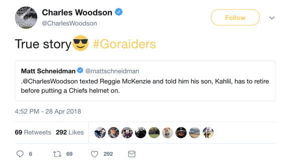 Chiefs drafted Raiders GM's son in sixth round, and things got a little awkward