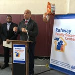 Union County Freeholder Chairman Mohamed S. Jalloh, Vice Chairman Bruce H. Bergen and Freeholders Bette Jane Kowalski, Christopher Hudak, Vernell Wright and Sergio Granados joined U.S. Senator Cory Booker, Rahway Mayor Samson Steinman, Councilman David Brown and United Way of Great Union County President/CEO James W. Horne participated in a ribbon cutting officially opening the Rahway Family Success Center in Rahway.