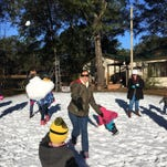 Florida family makes it snow during freeze