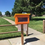 Farmington police bring tiny libraries to two city parks