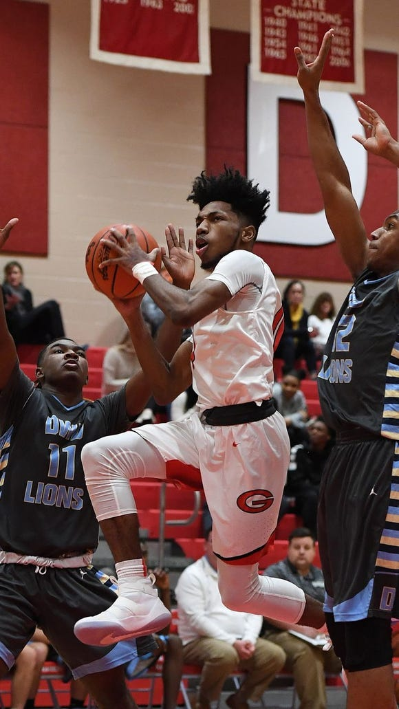 Quade Parks, center, and the Greenville Red Raiders will host Union County in a Class AAAA first-round playoff game at 7:30 p.m. Tuesday.