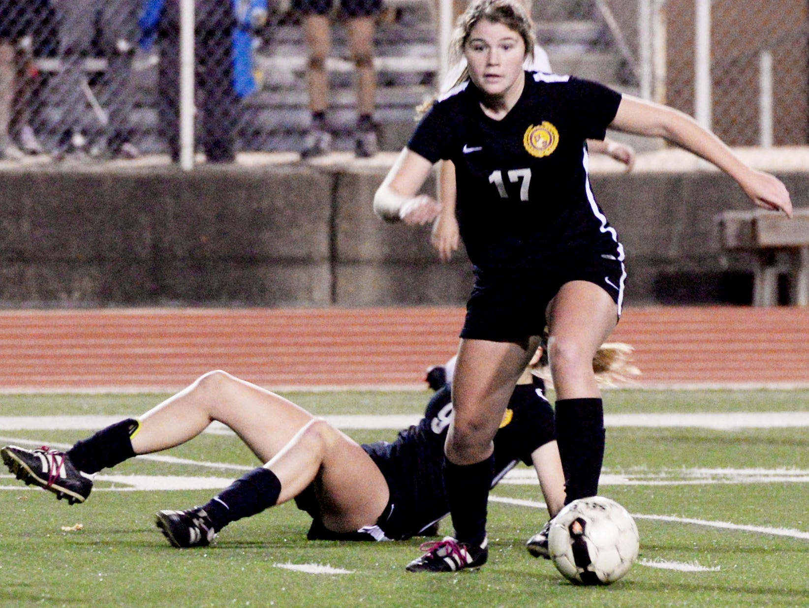 Caddo Magnet vs. Byrd soccer Monday evening at Lee Hedges Stadium.