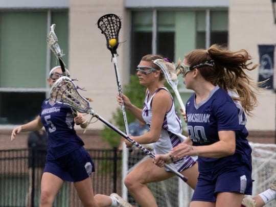 Rumson/Fair Haven girls lacrosse beat Manasquan for Shore Conference Tournament Title on May 12, 2018 at Monmouth University.