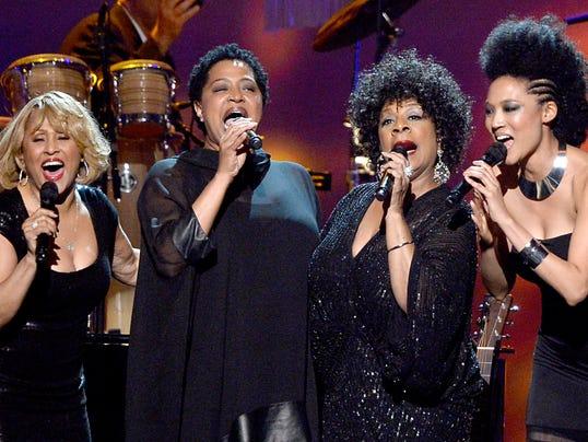 Singers Darlene Love, Lisa Fischer, Merry Clayton and Judith Hill