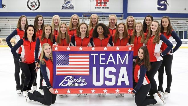 Fond du Lac Blades Junior Team USA 2017-18.