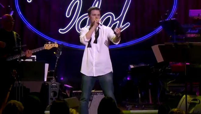 """Lumberton native Michael Simeon advanced to the Top 24 on """"American Idol """"Wednesday with a rousing performance of """"Classic"""""""