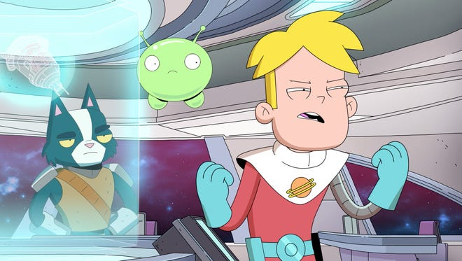 "Avocato, Mooncake and Gary in a scene from the new TBS animated series ""Final Space,"" created by Nashville resident Olan Rogers"