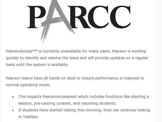 Pearson s email on PARCC