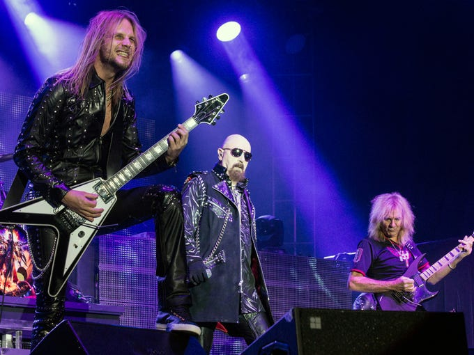Classic Metal band Judas Priest headlined the Louder Than Life Festival at Champions Park on River Road Saturday night. 10/4/14 Marty Pearl/Special to The C-J