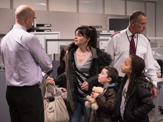 Things don't go well for Katie (Hayley Squires) and