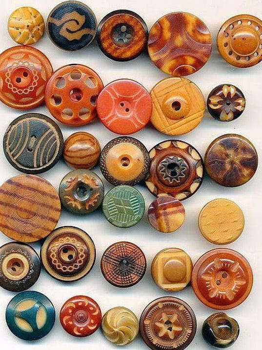 Vegetable Ivory buttons made from from the seed of a type of palm tree e