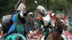 Jousting at King Richard's Faire.