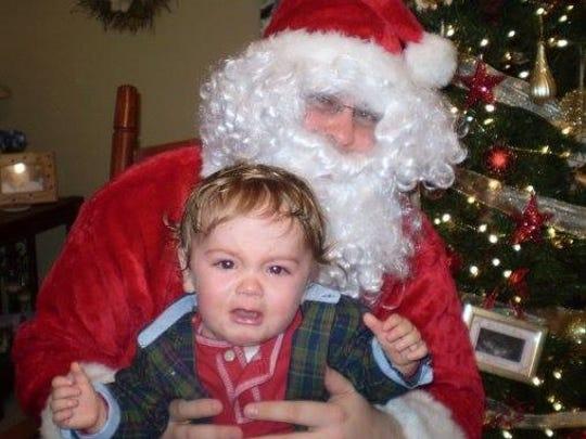 Hunter Hoffer, of Zanesville was afraid of Santa several