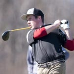 Essex's Adam Ely tees off on the par-4 seventh hole during Wednesday's match at Vermont National Country Club.