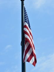 The flag pole at Norland Cemetery was dedicated on