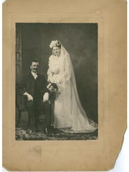 """William """"Gompy"""" and Marie (Hanson) Coates on their"""