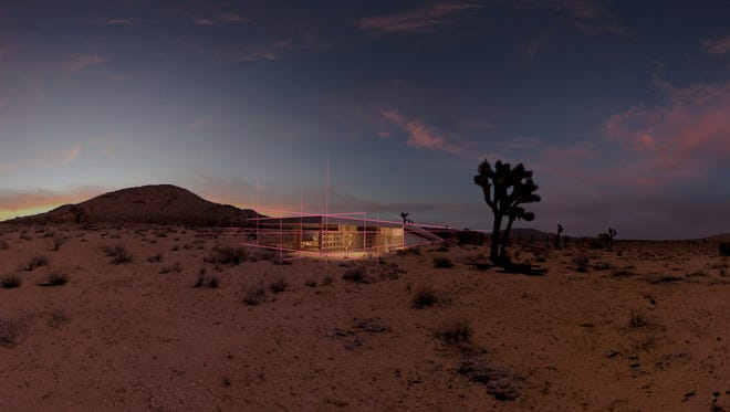 """Acido Dorado, a uniquely-designed home in Joshua Tree, is depicted in virtual reality in the ShortFest film, """"The Visitor,"""" screening Thursday in a VR demonstration."""