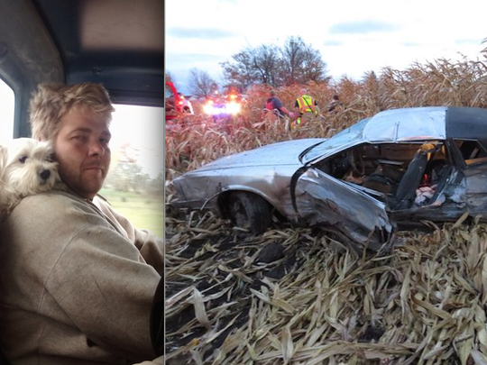 Police said 28-year-old Nicholas Roddenberg, of Fowlerville, (left) died when he was ejected from his 1986 Chevrolet Monte Carlo (right) when it was struck by a Buick LeSabre at the intersection of Mohrle Road on Oct. 24 in Conway Township. Police said the LeSabre driver failed to stop at the stop sign.