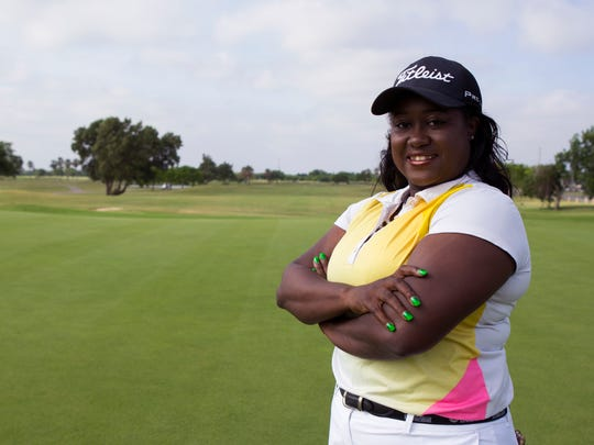 Tiana Jones, Lozano Golf Center's new PGA golf professional,