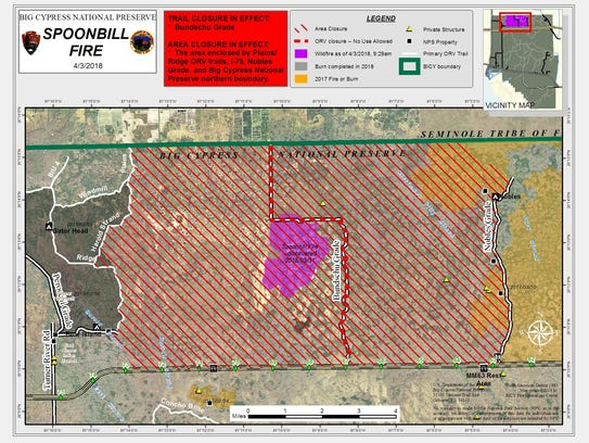 Closures due to the Spoonbill fire.