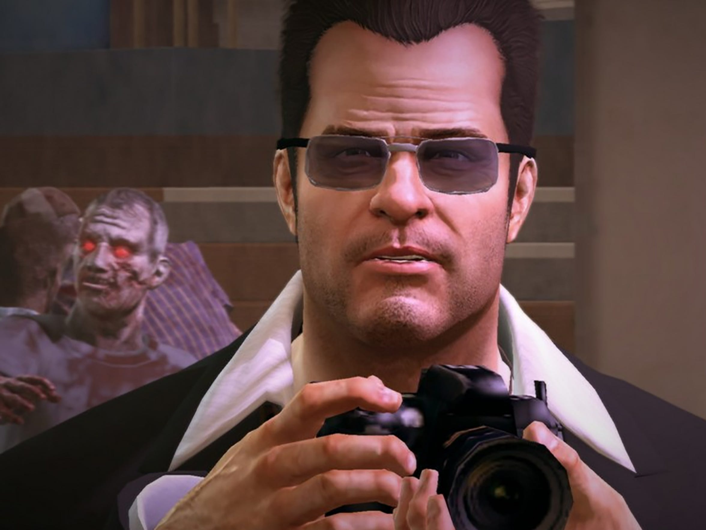 Nobody photobombs Frank West, not even zombies.