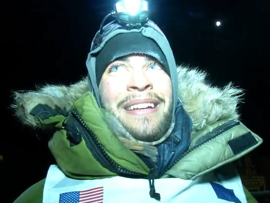 Noah Pereira of Brockport smiles after his first run of the Iditarod Trail Sled Dog Race in Alaska in 2016. He and a team of dogs completed the nearly 1,000 mile race in 11 days, 10 hours and 41 minutes.