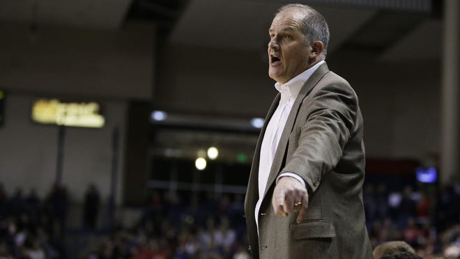 Eric Reveno, shown in Feb. 5, 2014 as the Portland head coach during a college game against Gonzaga, is now an assistant at Georgia Tech. He sparked the movement to give college athletes a day off to vote in the Nov. 3 presidential election, even those who are right in the middle of their seasons.