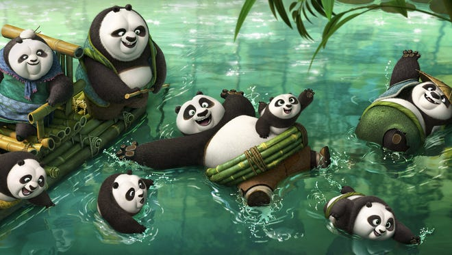 "Po (Jack Black) enlists the help of a panda village to fight his latest enemy in ""Kung Fu Panda 3."""