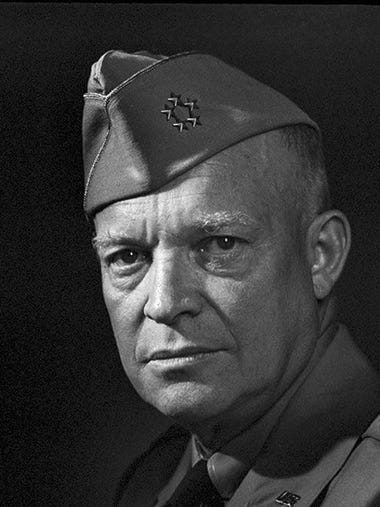 Gen. Dwight D. Eisenhower served in the U.S. Army during