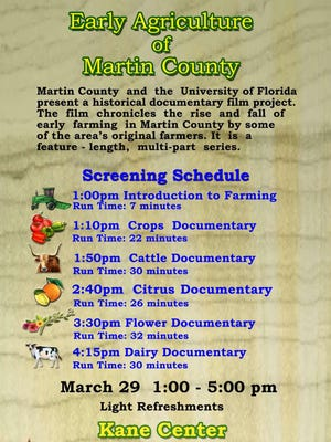 """""""Early Agriculture of Martin County"""" is a feature-length, multi-part series and documents the history of crop, cattle, citrus, flower and dairy farming in Martin County."""