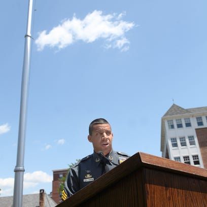 Sgt. Aaron Tomasini, a Morris County sheriff's officer,