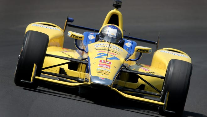 Marco Andretti tested at Phoenix International Raceway on Wednesday in anticipation of IndyCar's return to the track April 2, 2016.
