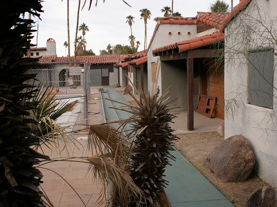 A view of the pool area courtyard of the Orchid Tree Inn in downtown Palm Springs in this 2009 file photo.