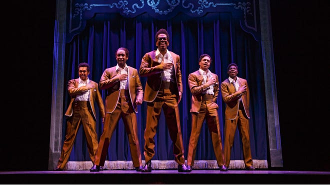 """The Temptations take a turn in the spotlight in """"Motown: The Musical,"""" which opens Tuesday at the Des Moines Civic Center."""