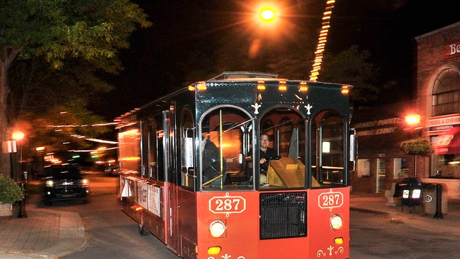 The popular trolley makes its way down Kercheval in Grosse Pointe Park.